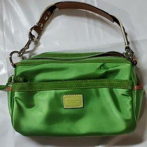 Coach green shoulder bag